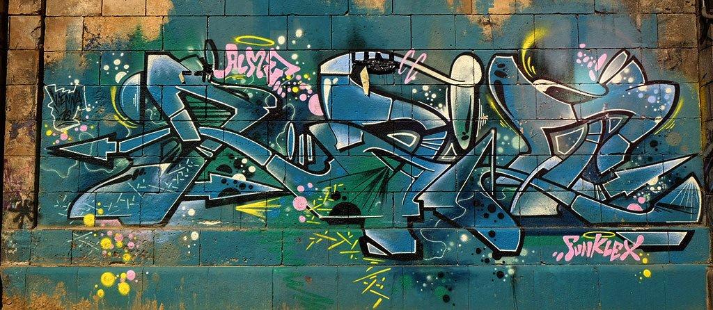 Wild Style Graffiti in Vienna