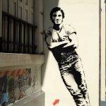 Guy as stencil Graffiti