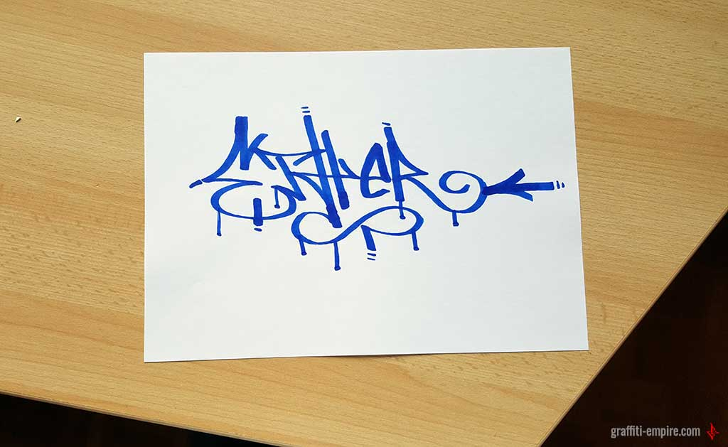 Ether Graffiti Tag on Paper