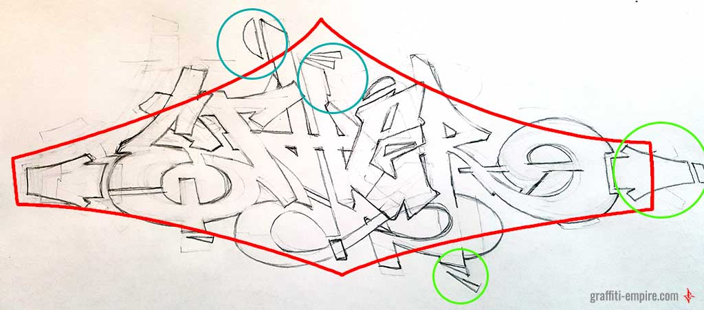 Tutorial - how to improve a graffiti sketch