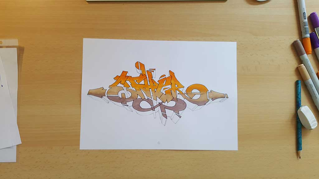 how to draw graffiti step by step on paper