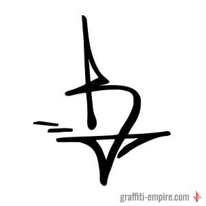Dynamic B Graffiti Tag Letter