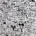 Berlin marker comic Streetart