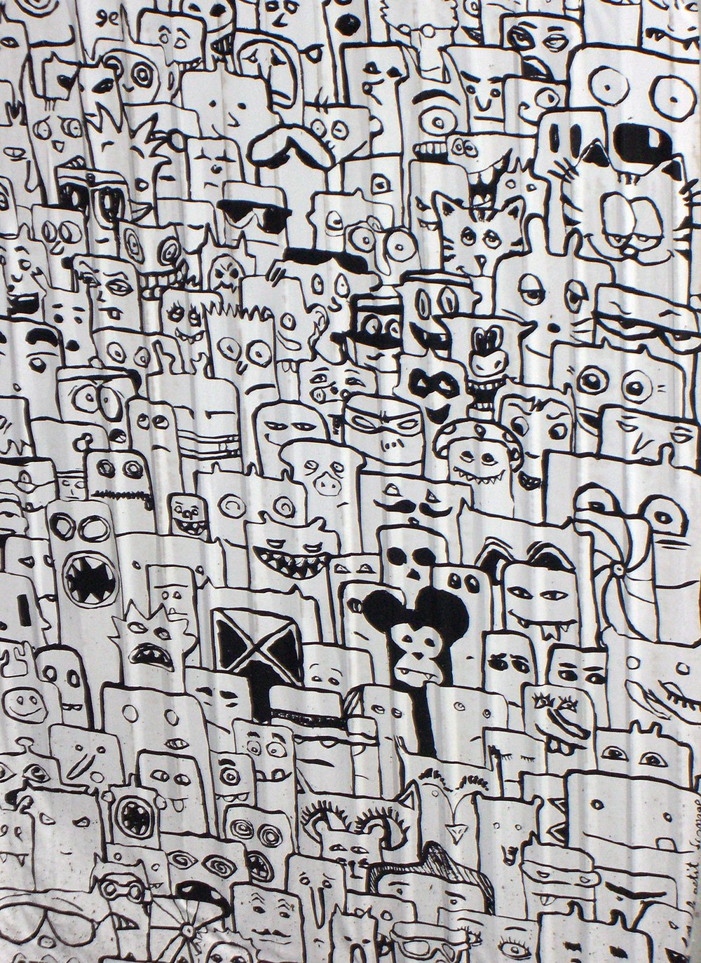 Marker Comic Streetart in Berlin