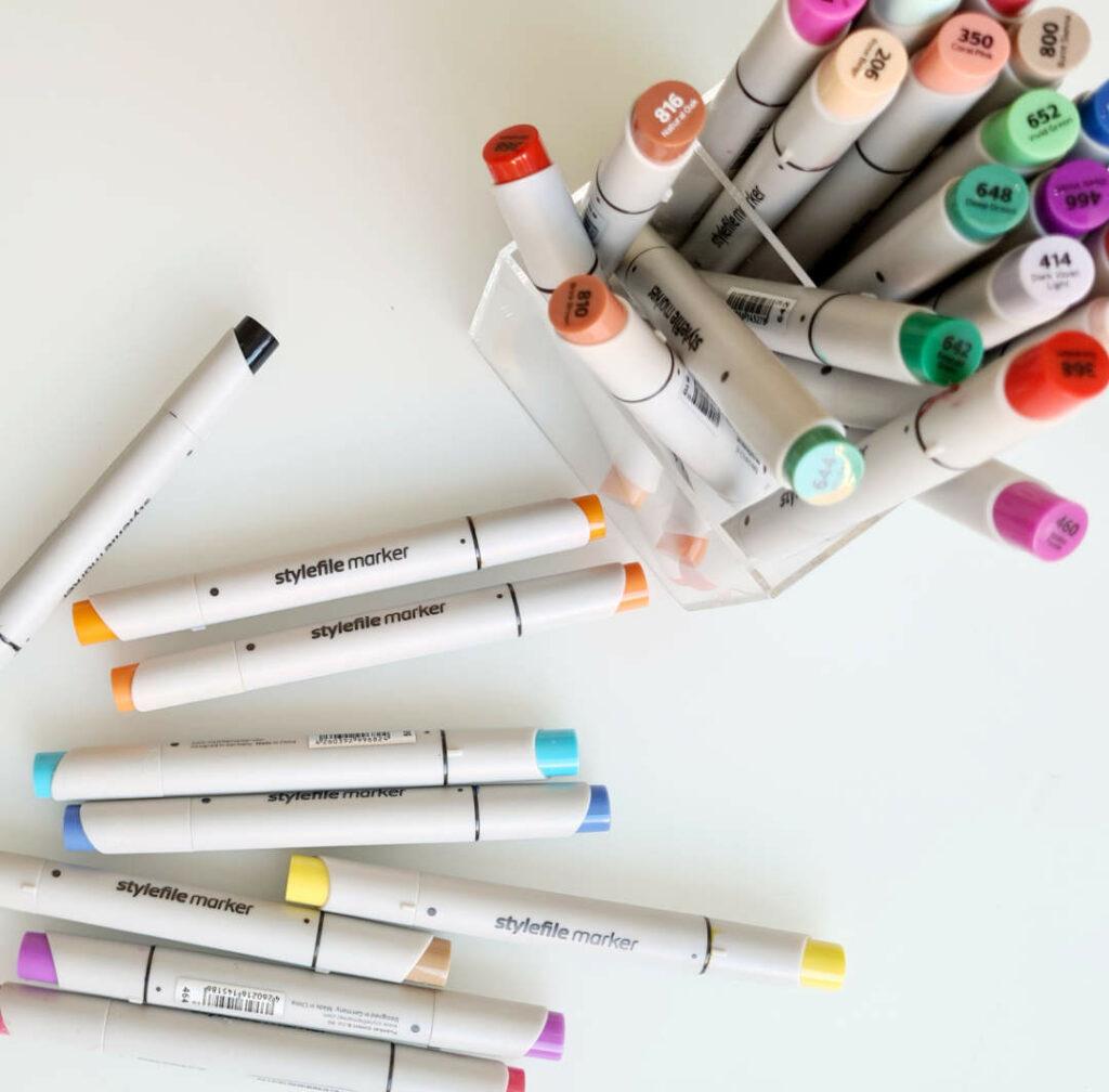 Stylefile brush markers