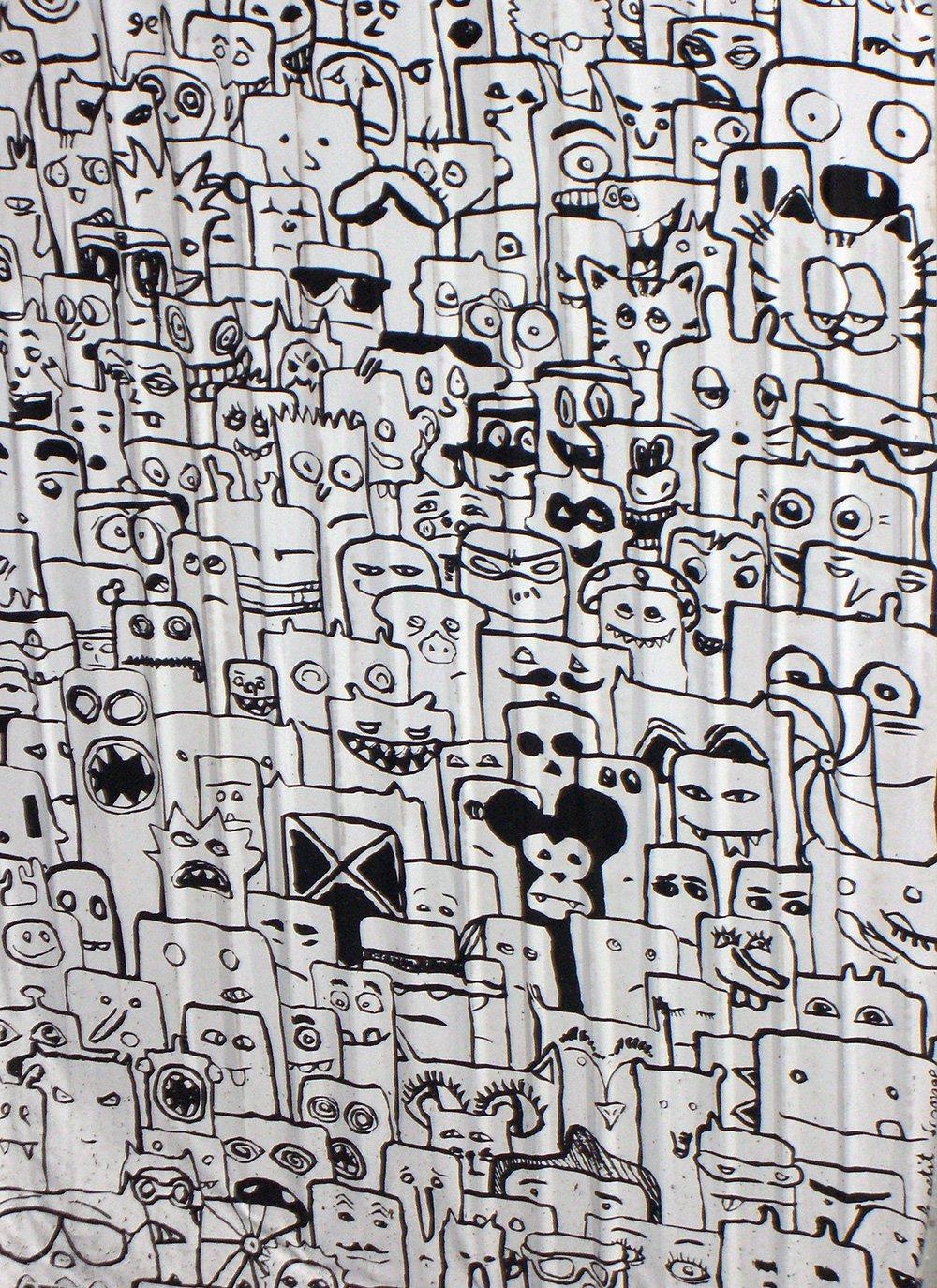 Graffiti comics in Berlin