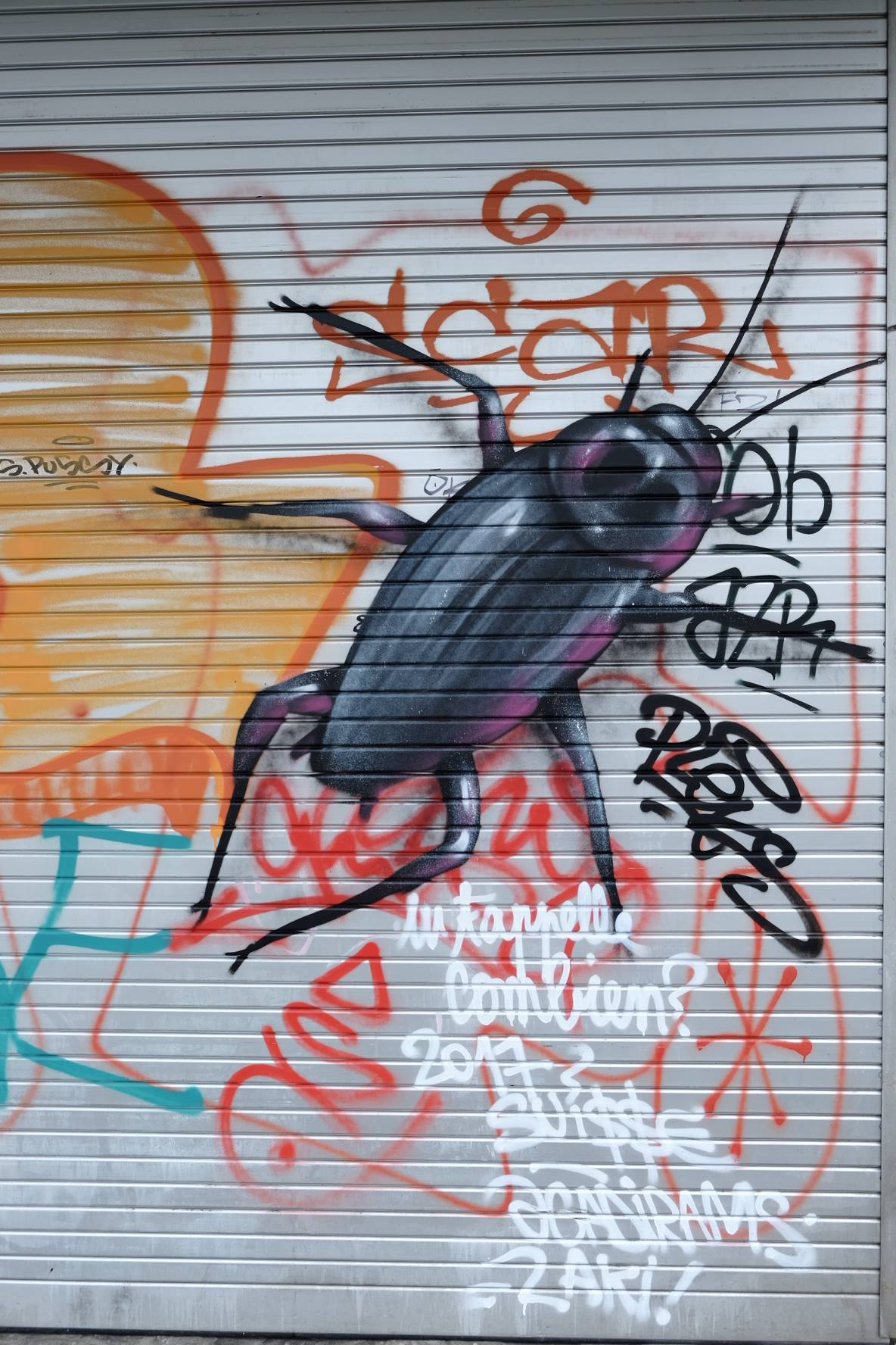 Bug graffiti with lots of tags in geneve