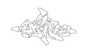 Empire graffiti outline thumbnail graphic