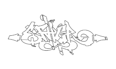 Ether graffiti outline thumbnail graphic