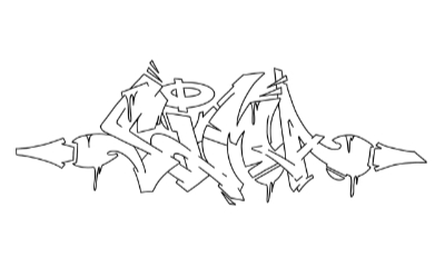 Sima graffiti outline thumbnail graphic