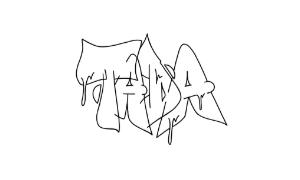 Tada graffiti outline thumbnail graphic