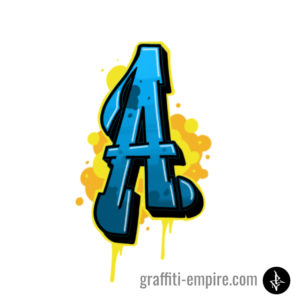 A Graffiti Letter graphic done with Procreate