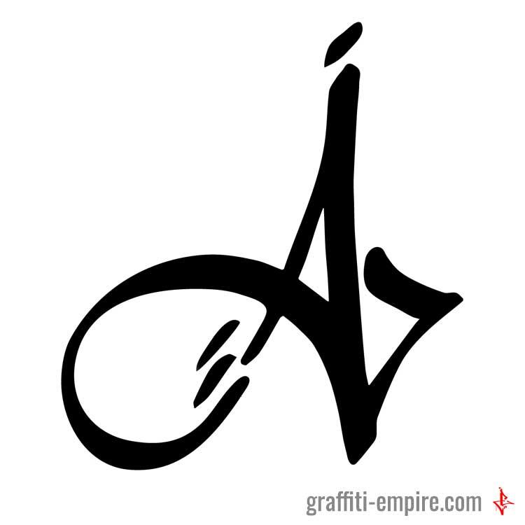 ▷ Graffiti Letter A Tag inverted