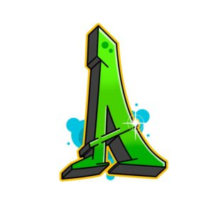 How to draw graffiti letter a step 7