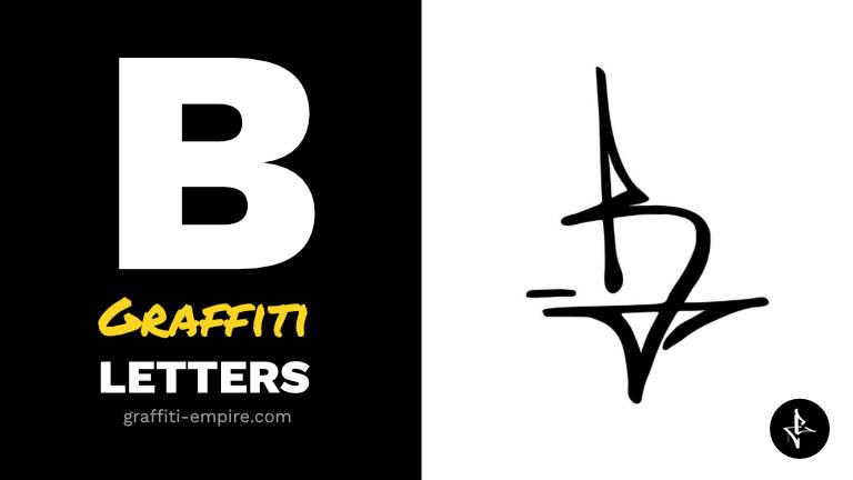 B graffiti letters thumbnail graphic