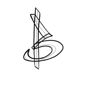 How to draw graffiti letter B tutorial step 2 graphic