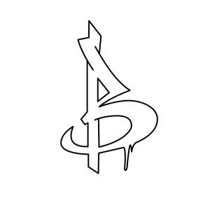 How to draw graffiti letter B step 3 graphic