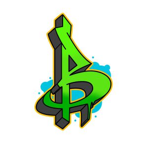 How to draw graffiti letter B step 6 graphic