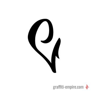 C Graffiti Tag Letter with serif