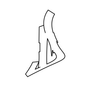 How to draw graffiti letter D Step 3 graphic
