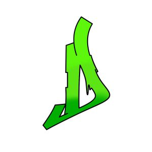 How to draw graffiti letter D Step 4 graphic
