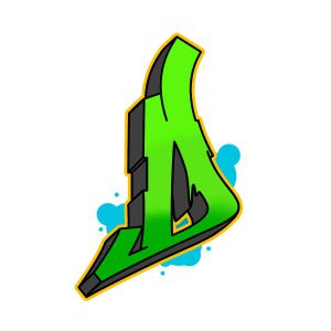 How to draw graffiti letter D Step 6 graphic