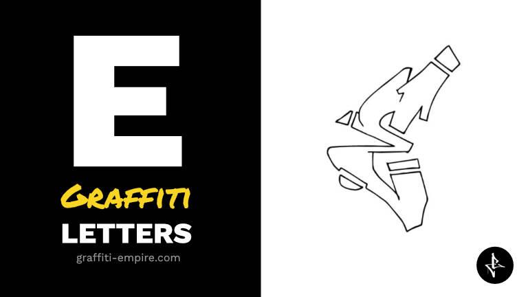 E graffiti letters thumbnail graphic