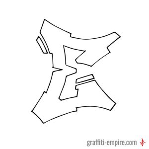 Semi Wildstyle E Graffiti Letter