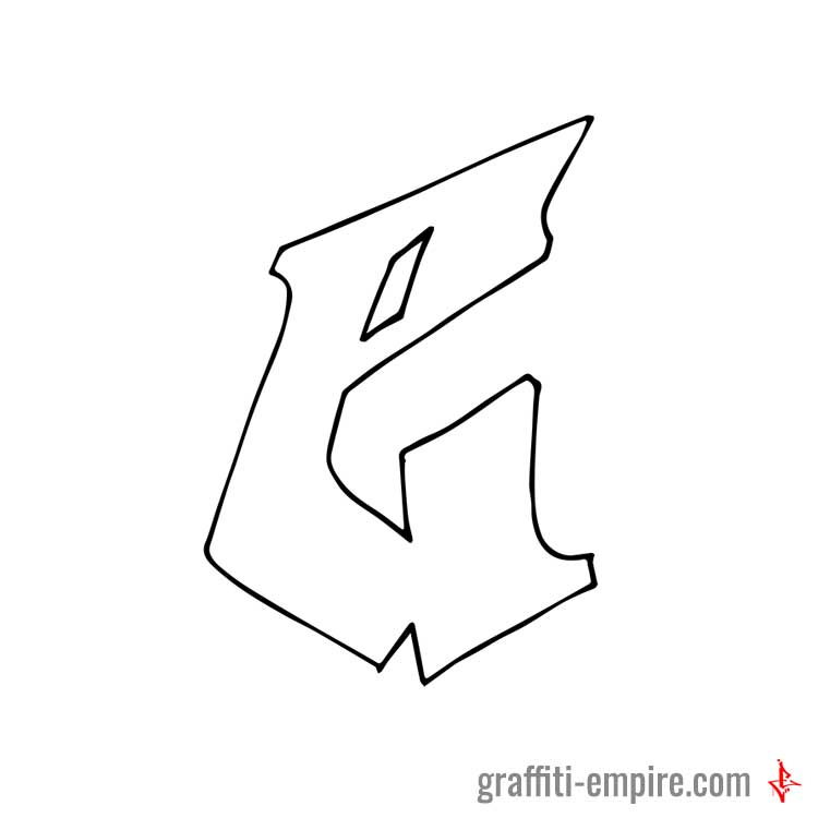 letter e in graffiti