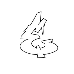 How to draw graffiti letter E Step 3 graphic