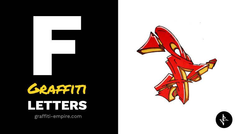 F graffiti letters thumbnail graphic