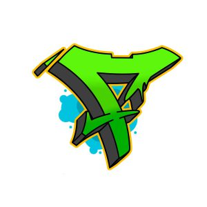 How to draw graffiti letter F tutorial step 6 graphic