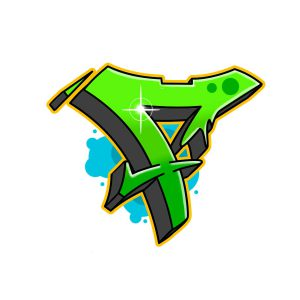 How to draw graffiti letter F tutorial step 7 graphic