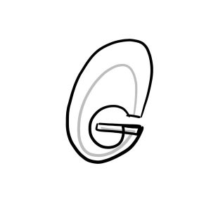 How to draw graffiti letter G tutorial step 2 graphic