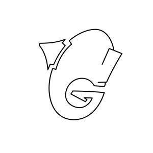 How to draw graffiti letter G tutorial step 3 graphic