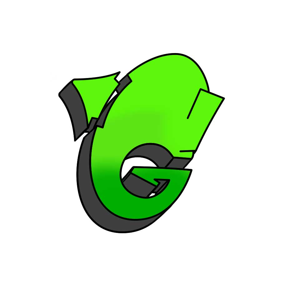 How to draw graffiti letter G tutorial step 5 graphic
