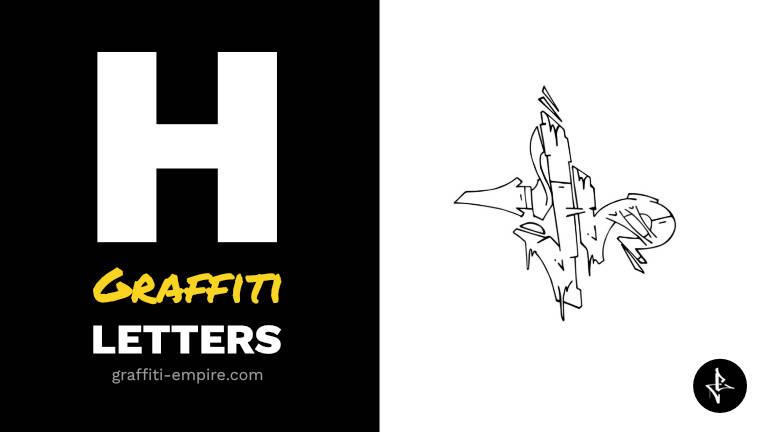 H graffiti letters thumbnail graphic