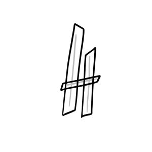 How to draw graffiti letter H tutorial step 2 graphic