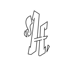 How to draw graffiti letter H tutorial step 3 graphic