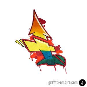Colored Semi-Wildstyle I Graffiti Letter