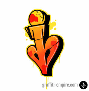 Graffiti Letter I doen with Procreate