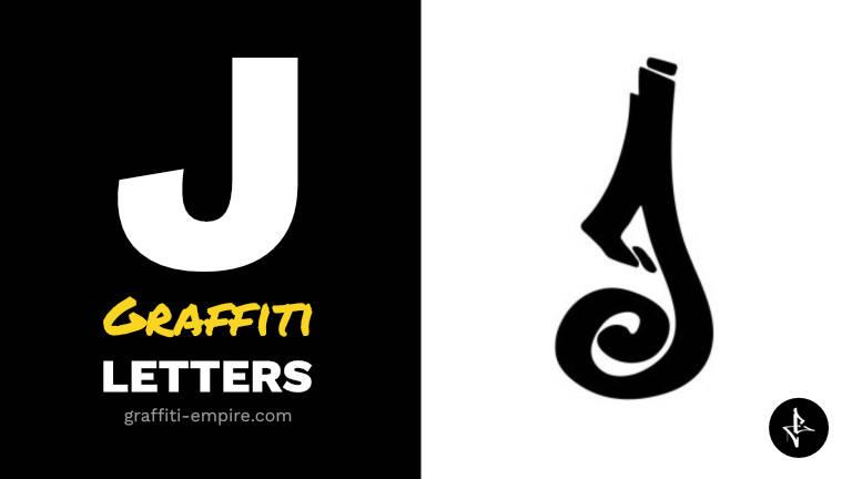 J graffiti letters thumbnail graphic