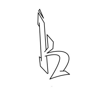 How to draw graffiti letter K tutorial step 3 graphic