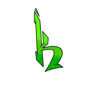 How to draw graffiti letter K tutorial step 4 graphic