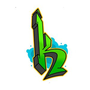 How to draw graffiti letter K tutorial step 6 graphic