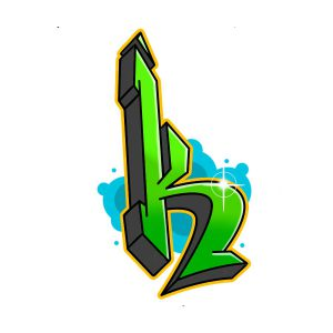 How to draw graffiti letter K tutorial step 7 graphic