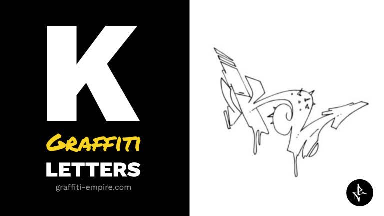 K graffiti letters thumbnail graphic