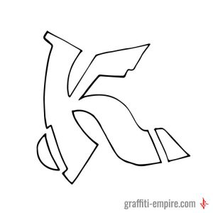 K Semi-Wildstyle Graffiti Letter