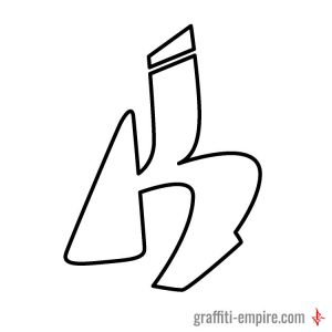 Simple Style K Graffiti Letter