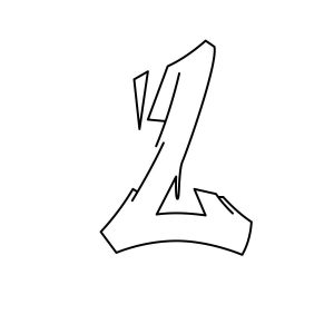 How to draw graffiti letter L tutorial step 3 graphic